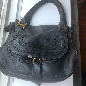 Marcie Satchel Chloe bag. Black